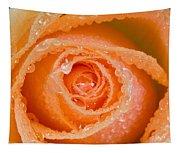 Orange Rose With Dew Tapestry