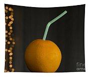 Orange With Straw Tapestry