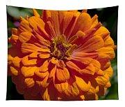 Orange Zinnia Tapestry