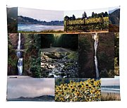 Oregon Collage From Sept 11 Pics Tapestry