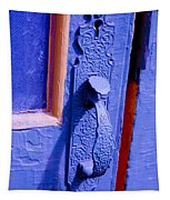 Ornate Blue Handle 2 Tapestry