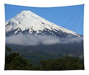 Osorno Volcano Ringed By Clouds Tapestry