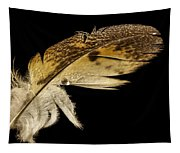Owl Feather With Water Tapestry