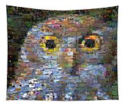 Owl Mosaic Tapestry