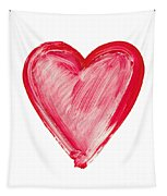 Painted Heart - Symbol Of Love Tapestry