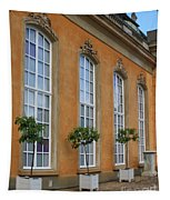 Palace Windows And Topiaries Tapestry