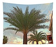 Palm On The Avenida Tapestry
