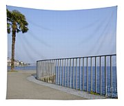 Palm Tree On The Lakefront Tapestry