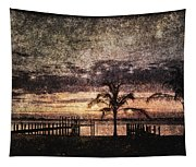 Palms And Docks Tapestry