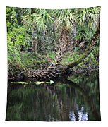 Palms On The River Tapestry