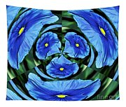 Pansy In Triplicate Tapestry