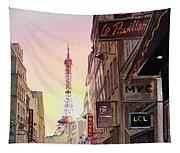 Paris Eiffel Tower Tapestry