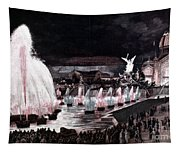 Paris: Fountains, 1889 Tapestry