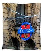 Paris Metro 5 Tapestry