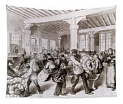 Paris: Pawnbroker, 1868 Tapestry