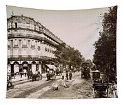 Paris: Street Scene, 1890 Tapestry