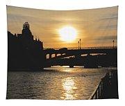 Parisian Sunset Tapestry