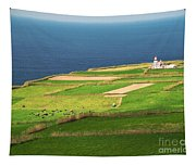 Pastures And Lighthouse Tapestry