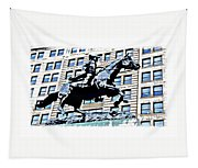 Paul Revere Galloping Statue Tapestry