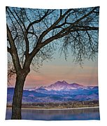 Peaceful Early Morning Sunrise Longs Peak View Tapestry