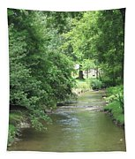 Peaceful Mountain Stream Tapestry