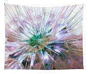 Peacock Dandelion - Macro Photography Tapestry