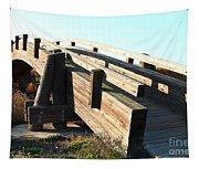 Pedestrian Bridge At Martinez Regional Shoreline Park In Martinez California . 7d10513 Tapestry