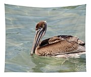 Pelican Waiting For A Catch Tapestry