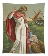 Peter Walking On The Sea Tapestry