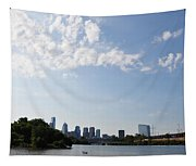 Philadelphia From Kelly Drive Tapestry