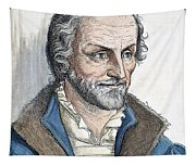 Philipp Melanchthon (1497-1560). German Scholar And Religious Reformer: Line Engraving, German, 19th Century Tapestry