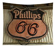 Phillips 66 Vintage Sign Tapestry