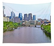 Philly By Water Tapestry