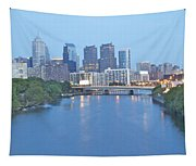 Philly In Blue Tapestry