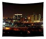 Philly Night Panoramic Tapestry