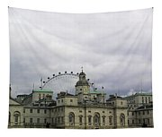 Photo Of London With London Eye In The Background Tapestry