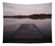 Pier, Lake Of The Woods, Ontario, Canada Tapestry