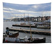 Piers Of Oslo Harbor Tapestry