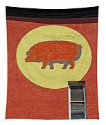 Pig On A Wall Tapestry