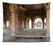 Pillars Of Building Inside Red Fort Tapestry