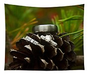Pine Cone And Wedding Band Tapestry