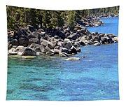 Pines Boulders And Crystal Waters Of Lake Tahoe Tapestry