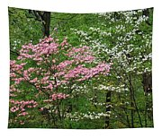Pink And White Tapestry