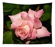 Pink And White Rose Tapestry