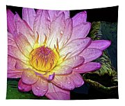Pink And Yellow Waterlily Tapestry