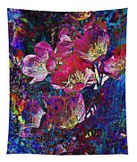 Pink Floral Abstract Tapestry