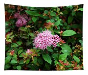 Pink Flowers Of Little Bavaria Tapestry