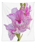 Pink Gladiolus Tapestry