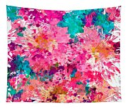 Pink Mums Tapestry