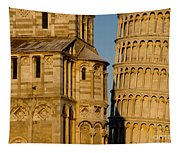 Pisa Tower And Cathedral Tapestry